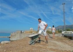 Ovu subotu je održana radna akcija nasipanja plaže Mramorna