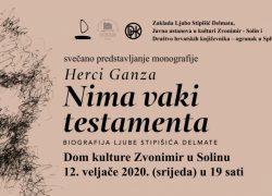 """Svečano predstavljanje monografije """"Nima vaki testamenta"""" / Biografija Ljube Stipišića Delmate u Solinu"""