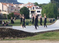 Isprike udruzi Bubamarci, članice Plesnog studija Gita sudjelovale su u otvaranju skate parka