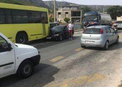 Lančani sudar u Trpimirovoj – Cisterna, dva OV i autobus