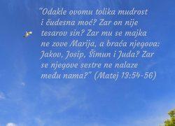 Tko ima uho čut će, čitat će, istražit će, pitat će, molit će, shvatit će…