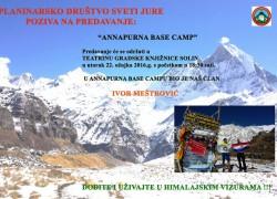 PD Sveti Jure – Predavanje Annapurna base camp