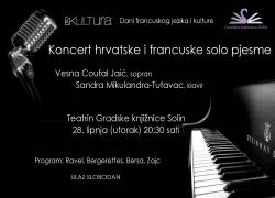 Koncert hrvatske i francuske solo pjesme