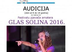 Audicija za Dječji festival Glas Solina