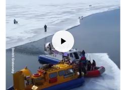 Krstarenje Bajkalom na santi leda (VIDEO)