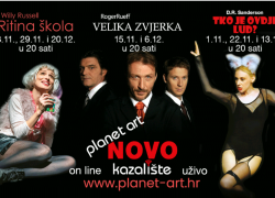 Kazalište Planet Art pokrenulo je inovatovan kazališni projekt – On line kazalište uživo