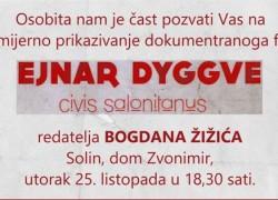 "DOM KULTURE ZVONIMIR: Dokumentarni film ""Civis Salonitanus"""