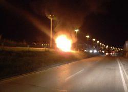 Vatra progutala automobil na brzoj cesti Solin-Kaštela