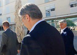 VIDEO Premijer Plenković bježao od pitanja o Kalmetinoj mafiji, ne demantira postojanje iste